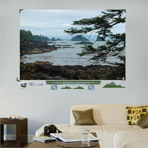 British Columbia Pacific Coastline Wall Decal