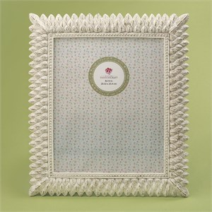 Brushed Leaf Ivory 8 x 10 Frame
