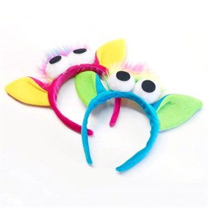 Bugged Eyed Monster Headband - Assorted Colors