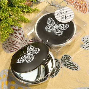 Butterfly Mirror Compact Favors