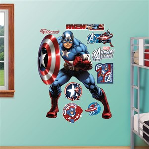 Captain America Avengers Assemble Wall Decal