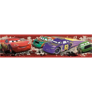 Cars-Piston Cup Racing Peel And Stick Border