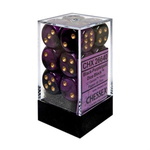 Chessex Black And Purple Gemini Dice 16mm D6 Block