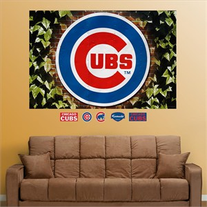 Chicago Cubs Ivy Logo Mural-Fathead