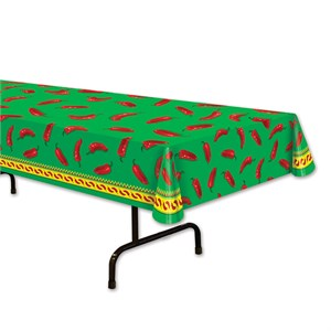 Chili Pepper Plastic Table Cover - Rectangle