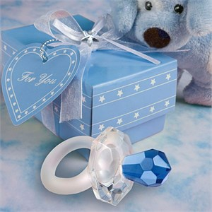 Choice Crystal Blue Pacifier Favors