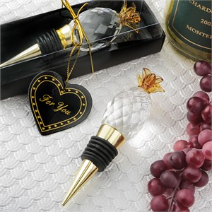 Choice Crystal Pineapple Bottle Stopper from The Warm Welcome Collection
