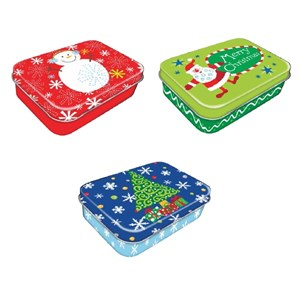 Christmas Gift Card Holder Box Tin