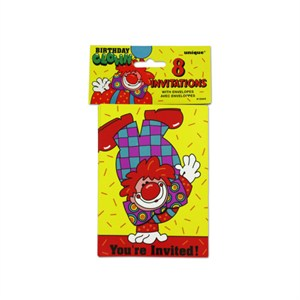 Clown Party Invitations