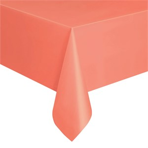 Coral Plastic Table Cover - Rectangle