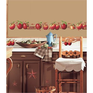 Country Apples Peel And Stick Decal