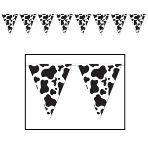 Cow Spots Pennant Banner