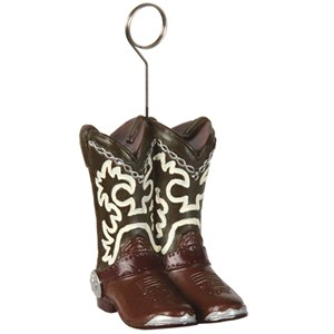 Cowboy Boots Photo Holder Balloon Weight
