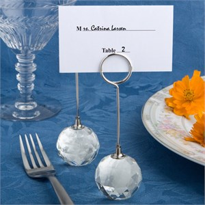 Crystal Ball Place Card Holders