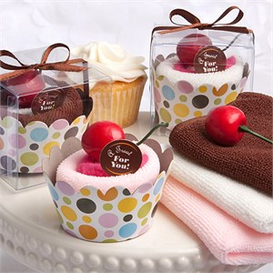 Cupcake Design Towel Favors
