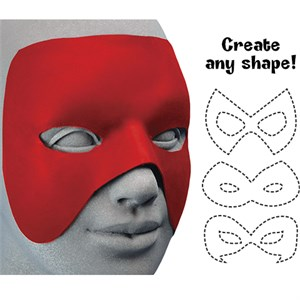 Cut To Shape Red Mask