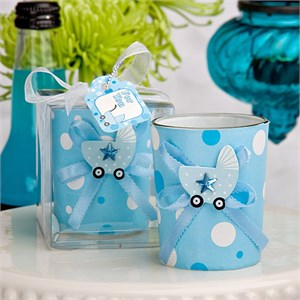 Cute Candle Holder Favors Boy