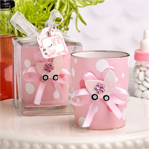 Cute Candle Holder Favors Girl