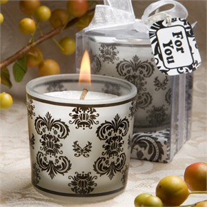 Damask Design Candle Favors