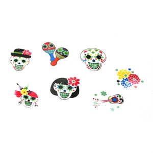 Day Of The Dead Glow In The Dark Tattoos