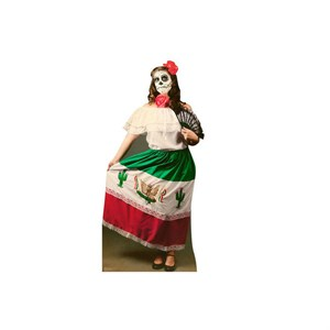 Day of The Dead Woman Cardboard Cutout