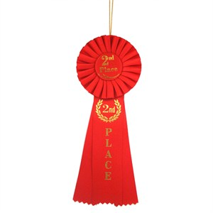 Deluxe 2nd Place Ribbon