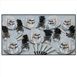 Deluxe Diamond New Years Eve Party Kit For 50