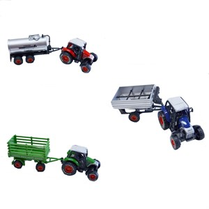 Die Cast Farm Tractor With Trailer