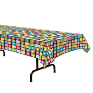 Disco Theme Plastic Table Cover - Rectangle