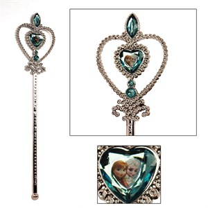 Disney Frozen Wand - Silver with Blue Elsa and Anna Heart Jewel