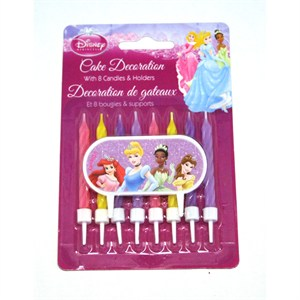 Disney's Princess Cake Decorations With Candles