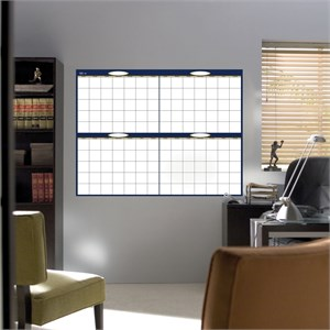 Dry Erase Blank 4 Month Calendar Wall Decal