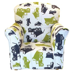 Dump Truck Print Toddler Rocker - Cotton Rocking Chair