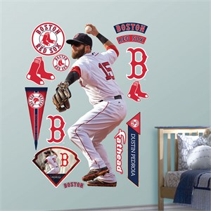 Dustin Pedroia Throwing Fathead Wall Decals