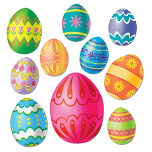 Easter Egg Cutouts