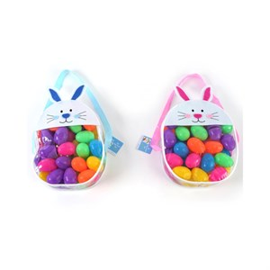 Easter Eggs in Easter Bunny Holding Case