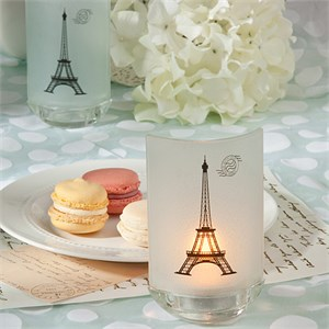 Eiffel Tower Design Candle Favors