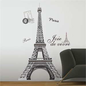Eiffel Tower Peel And Stick Giant Wall Decal