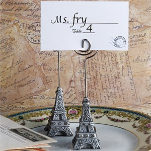 Eiffel Tower Place Card Holder Favors