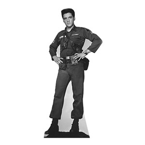 Elvis Presley-Army Fatigues Lifesized Standup