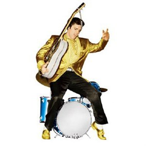 Elvis Presley Gold Suit Lifesized Standup