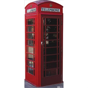 Lifesized  English Phone Booth Standup