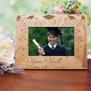 Engraved Graduation Wood Picture Frame