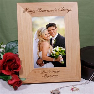 Engraved Today Tomorrow And Always Wedding Frame