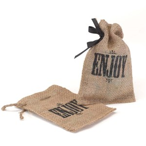 Enjoy Burlap Favor Bag