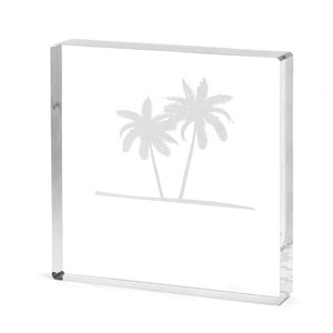 Etched Palm Trees Cake Top