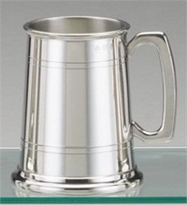 Etched Pewter Classic Tankards