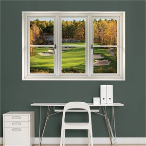 Fall Golf Tee Box: Instant Window Wall Decal