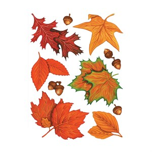 Fall Leaves Window Cling