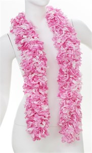 Faux Luau Pink Featherless Boa (6', 185 grams)